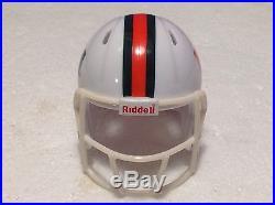 (16) Riddell Pocket Pro Football Helmets (Miami Hurricanes) SPEED 2017