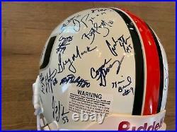 2000 Miami Hurricanes team autographed helmet (Reed, Moss, Johnson, Vilma, etc)