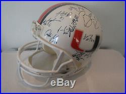 2000 Vintage Miami Hurricanes Team Autographed Helmet Dorsey Portis Johnson Reed