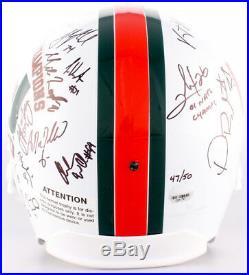 2001 Miami Hurricanes National Champions Signed Helmet 47/50