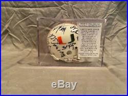 2002-2003 Miami Hurricanes Signed Mini Helmet WithCase 17 Signatures AUTHENTIC