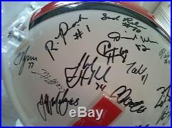 2002 Miami Hurricanes team signed F/S replica helmet