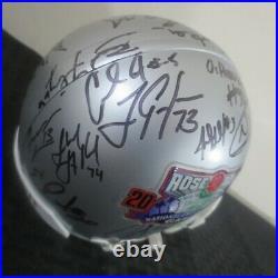 2002 Rose Bowl Miami Hurricanes Autograph Team Mini Helmet Andre Johnson/Coker