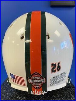 2006 Miami Hurricanes Authentic Bowl Series Schutt Helmet #26 Anthony Reddick