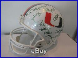 2007 Vintage Miami Hurricanes Team Autographed Helmet