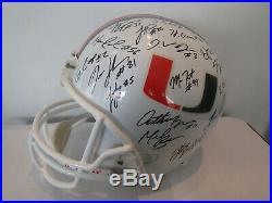 2008 Vintage Miami Hurricanes Team Autographed Helmet