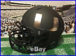 2015 Miami Hurricanes Black Out Football Helmet Riddell Speed SWEET
