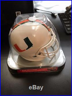 ANDRE JOHNSON SIGNED MIAMI HURRICANES Mini SCHUTT JR. Helmet