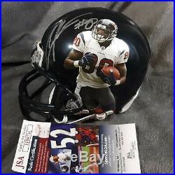 ANDRE JOHNSON signed HOUSTON TEXANS mini helmet JSA COA image miami hurricanes