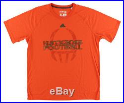 Adidas Mens Miami Hurricanes Helmet T Shirt Orange