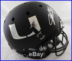 Andre Johnson Autographed Miami Hurricanes Schutt Black Replica Helmet 21326 Jsa