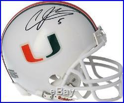 Andre Johnson Miami Hurricanes Autographed Riddell VSR4 Mini Helmet