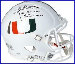 Andre Johnson Miami Hurricanes Signed Authentic Helmet & Heisman 07 Insc 1/6