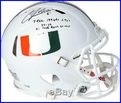 Andre Johnson Miami Hurricanes Signed Authentic Helmet & Heisman 07 Insc LE 6
