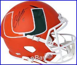 Andre Johnson Miami Hurricanes Signed Riddell AMP Alternate Replica Helmet