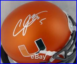 Andre Johnson Signed Miami Hurricanes Orange Schutt Mini Helmet JSA W Auth Silv