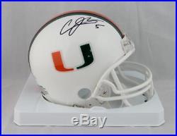 Andre Johnson Signed Miami Hurricanes Riddell Mini Helmet JSA W Auth Black