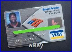 Andre Johnson's Person=al Credit Card Miami Hurricanes Texans Football Autograph