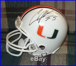 Andre Johnson signed Miami Hurricanes Riddell mini-helmet