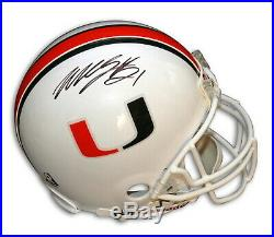 Autographed Willis McGahee Miami Hurricanes Pro-Line Helmet