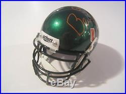 Bernie Kosar Miami Hurricanes Signed Autographed Mini Schutt Helmet Gai Witness