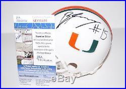 Brad Kaaya Signed Autographed Miami Hurricanes Mini Helmet Qb Jsa
