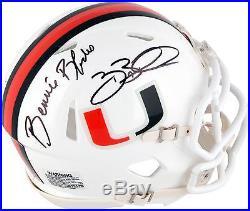 Bennie & Brian Blades Miami Hurricanes Autographed Mini Helmet