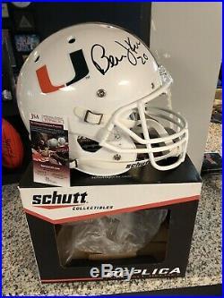 Bernie Kosar Autograph Full Size Speed Replica Helmet Miami Hurricanes Jsa Cert