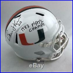 Bernie Kosar Autographed Miami Hurricanes Full Size Replica Helmet (DACW COA)