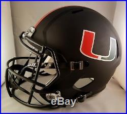 Bernie Kosar Autographed Signed Full Size Helmet Miami Hurricanes JSA