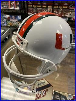 Bernie Kosar Miami Hurricanes Autographed Full Size Replica Helmet W COA Sticker