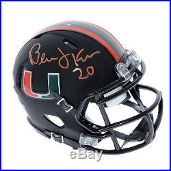 Bernie Kosar Miami Hurricanes Autographed Riddell Speed Black Mini Helmet