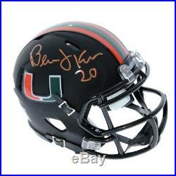 Bernie Kosar Miami Hurricanes Autographed Signed Riddell Speed Black Mini Helmet