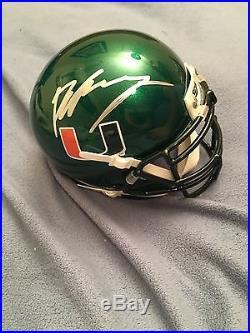 Brad Kaaya Signed Auto Miami Hurricanes Mini Helmet