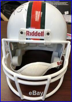 Brad Kaaya Signed Autograph Auto University of Miami Hurricanes Helmet JSA COA