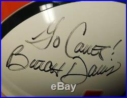 Butch Davis Signed Miami Hurricanes Replica Riddell Full Size Helmet JSA #T60297