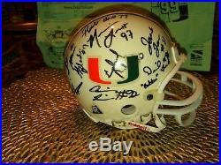 CANEFEST'99 Multi Personally Signed MIAMI HURRICANES Riddell 3 5/8 Mini-Helmet