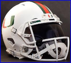 CUSTOM MIAMI HURRICANES NCAA OAKLEY Football Helmet EYE SHIELD / VISOR