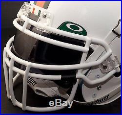 CUSTOM MIAMI HURRICANES NCAA Schutt XP Authentic GAMEDAY Football Helmet
