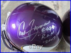 Chuck Foreman Miami Hurricanes Signed Minnesota Vikings Full-size Helmet Coa