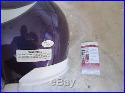 Chuck Foreman Miami Hurricanes Signed Minnesota Vikings Full-size Helmet Jsa Coa