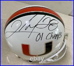 Clinton Portis Signed Miami Hurricanes Full Sized Helmet