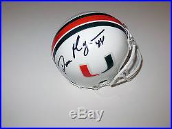 Dan Morgan Signed Miami Hurricanes Mini Helmet