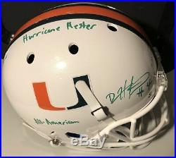 DEVIN HESTER Autographed Miami Hurricane White Schutt Replica Full Size Helmet
