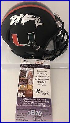 DEVIN HESTER signed Mini Helmet Riddell Miami Hurricanes Black Alternate JSA