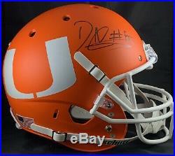David Njoku autograph signed Full Size Custom Helmet Miami Hurricanes PSA Browns