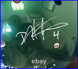 Devin Hester Signed Auto Miami Hurricanes Authentic Helmet Inscriptions Beckett