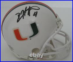 Devin Hester The U signed Miami Hurricanes football mini helmet COA proof
