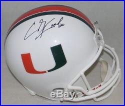Ed Reed Autographed Signed Miami Hurricanes Full Size Helmet Jsa