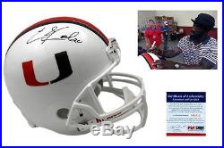 ED REED Signed Miami Hurricanes Helmet PSA/DNA Autographed with PHOTO